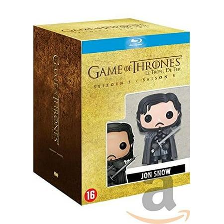 Game of Thrones (Season 5) - 5-DVD Box Set & Jon Snow Figurine ( Game of Thrones - Season Five (10 Episodes) ) [ Blu-Ray, Reg.A/B/C Import - Netherlands ] - Game Of Thrones Jon Snow Costume