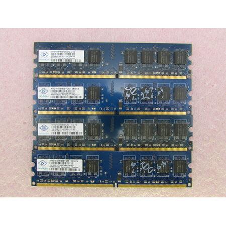 Nanya NT1GT64U8HB0BY-25D 4GB 4 x 1GB PC2-6400U DDR2 800 NonECC Unbuff Memory Kit