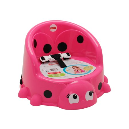 Fisher-Price Portable Booster Seat, Pretty-in-Pink Ladybug