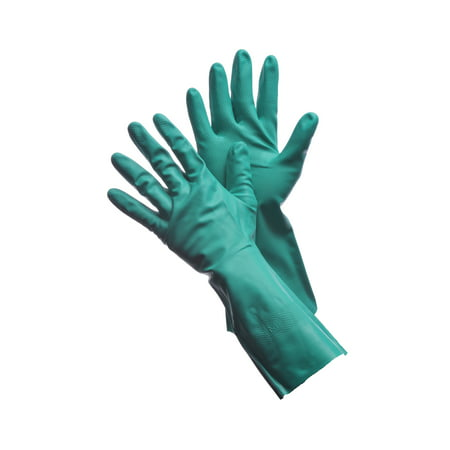 "Green Nitrile Gloves 15 Mil - 13"" Flock Lined Lot of 18 Pack(s) of 1 Pair"