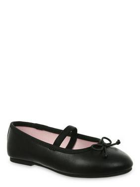 Wonder Nation Classic Bow Ballet Flat (Toddler Girls)