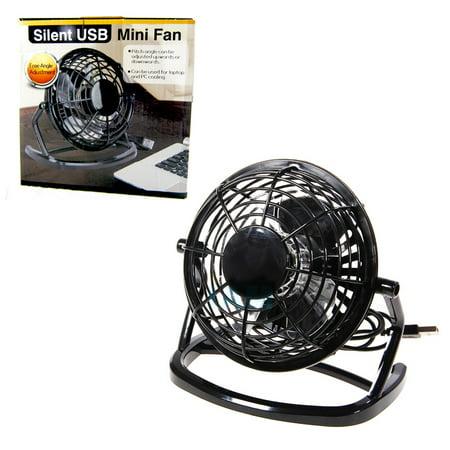 Desk Fan Portable USB Mini Air Cooling Silent PC Laptop Notebook Desktop Black