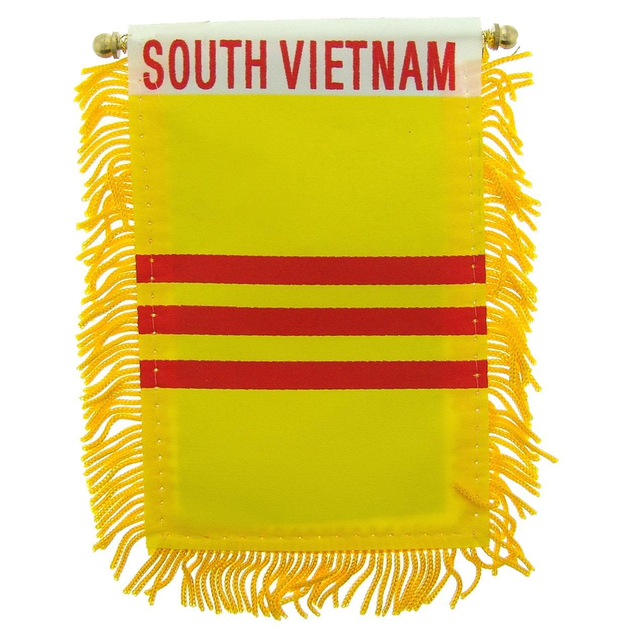"South Vietnam Flag Mini Banner 3"" x 5"""