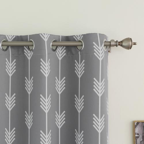 Aurora Home Arrow Room Darkening Blackout Grommet 84 Inch Curtain Panel  Pair   Walmart.com