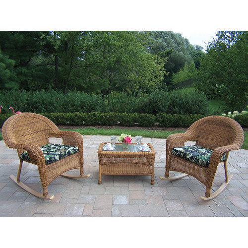 Oakland Living 3 Piece Rocker Seating Group Set