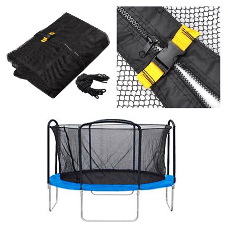 Round Trampoline Enclosure Net Fence Replacement Safety Mesh Netting Fits All Brands 13ft 4 Arch 8 Pole - image 2 of 3