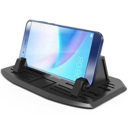 f559b96a495 IPOW Dashboard Phone Holder Universal Car Dash Cell Phone Mount Holder  Silicone Stand Dock Cradle for