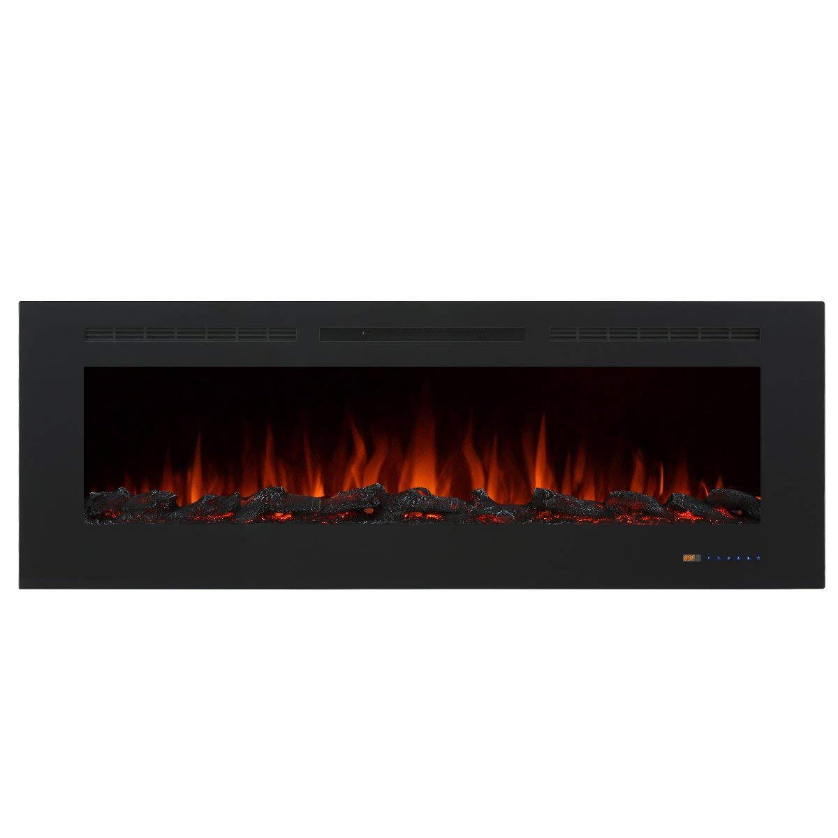 "Valuxhome Armanni 60"" 750W 1500W, Electric Fireplace Recessed Heater w  Touch Screen... by Valuxhome"