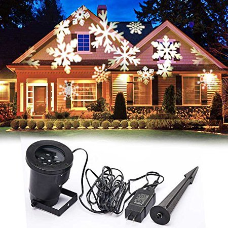 eagwell christmas decoration rotating projection led lights snowflake spotlight christmas led projector light show waterproof - Christmas Decoration Projector