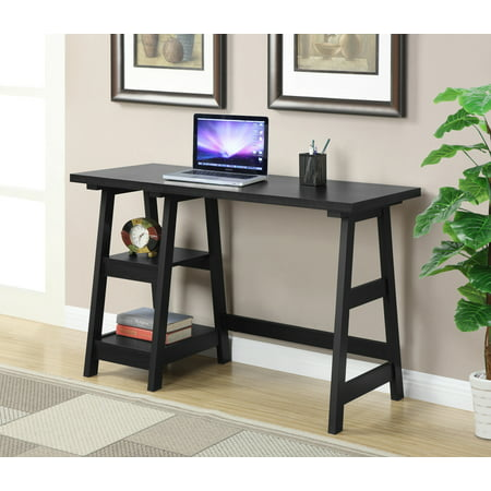 Convenience Concepts Designs2Go Trestle Desk, Multiple Finishes 4d Concepts Folding Desk