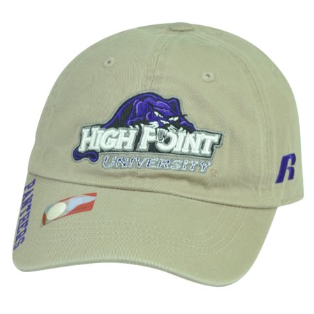 Ncaa High Point Panthers Russell Garment Wash Relax Sun Buckle Hat Cap Beige