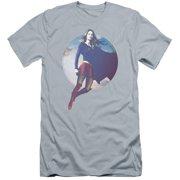 Supergirl Cloudy Circle Mens Premium Slim Fit Shirt