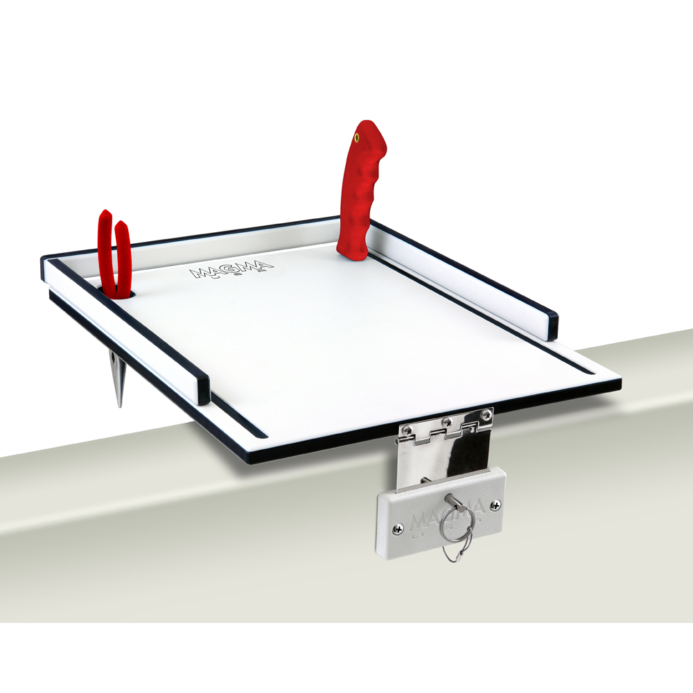 Magma Black and White Econo Mate Bait and Filet Table with Knife and Pliers Slots