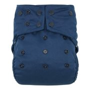 Reusable Waterproof Diaper Cover Shell: for Baby Prefold Cloth Diapers, Flats or Inserts (Navy Blue)