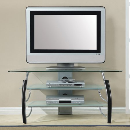 Home Source 58 in. Glass TV Stand