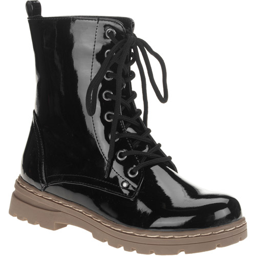 Laundry List Women's Patent Lace-up Boot