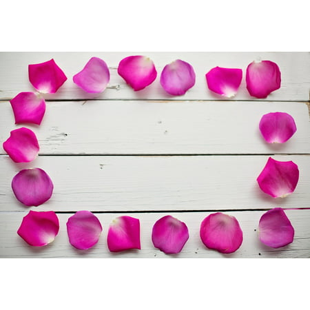 Canvas Print Romantic Frame Floral Rose Petals Border Flower ...