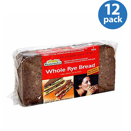 Mestemacher Whole Rye Bread, 17.6 oz (Pack of 12)