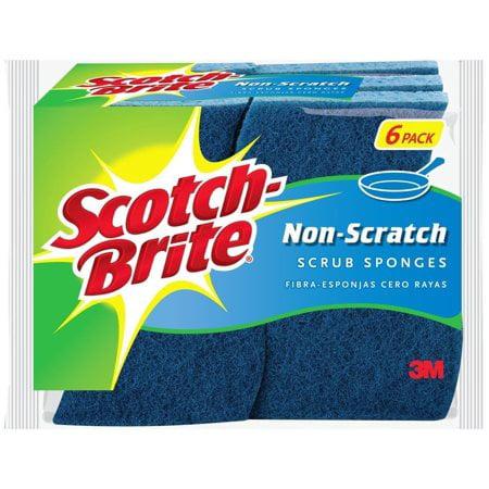 (2 Pack) Scotch-Brite Non-Scratch Multi-Purpose Scrub Sponges Value Pack, 6 Ct