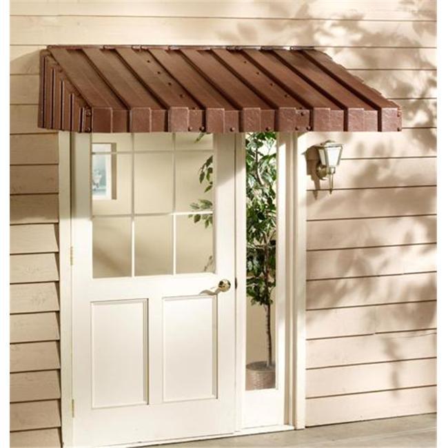 East Iowa Plastics C84BR Door Canopy  84 inch  Brown