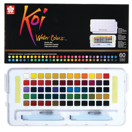 Sakura Koi Watercolors Studio Sketch Box Set, 60-Colors - Sakura Koi Watercolor