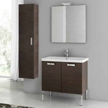 ACF by Nameeks ACF CP07-W City Play 29-in. Single Bathroom Vanity Set - Wenge