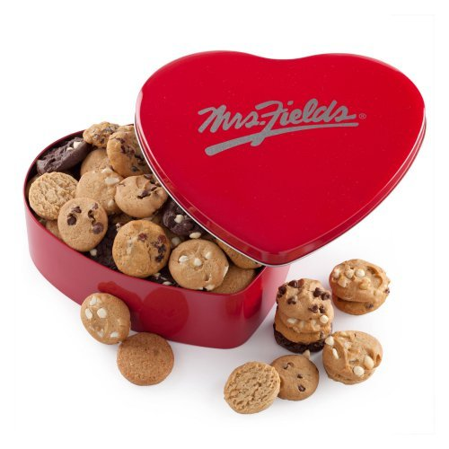 Mrs. Fields Classic Heart Tin with 60 Nibblers