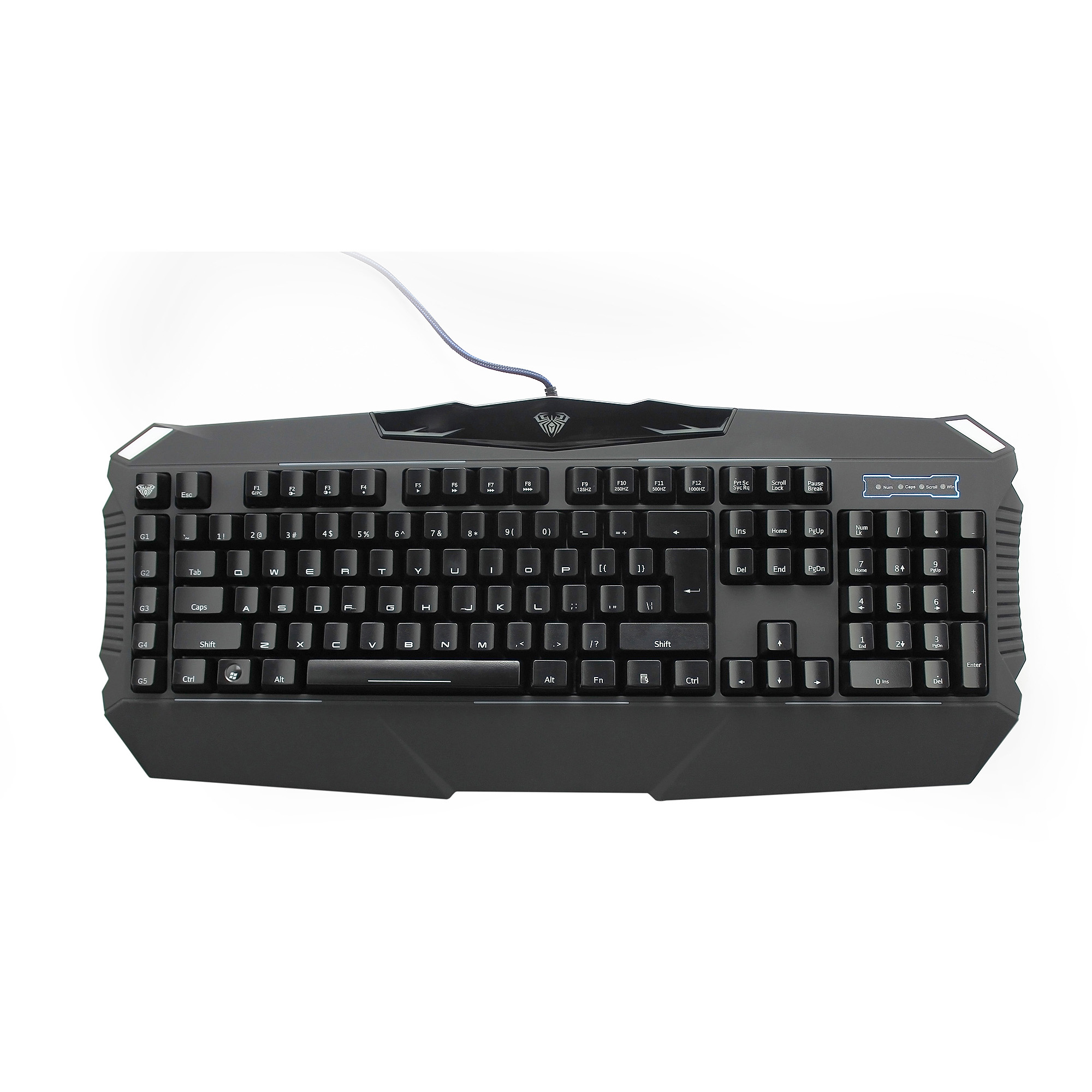 AULA Dragon Abyss SI-863 LED-Backlit Mechanical Wired Gaming Keyboard, Black