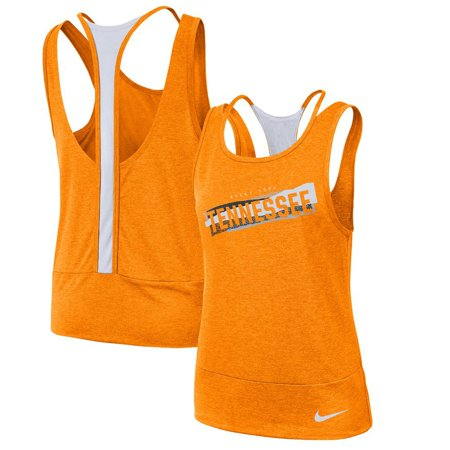 Tennessee Volunteers Nike Women's Loose Racerback Performance Tank Top - Tennessee Orange/White