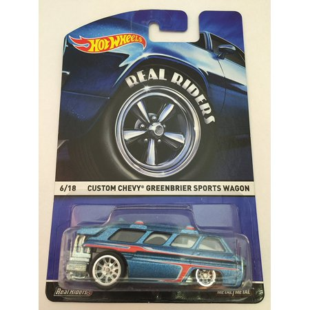 Heritage Real Riders Custom Chevy Greenbrier Sports Wagon Rare 6/18, 2015 Hot Wheels Heritage Real Riders Custom Chevy Greenbrier Sports Wagon By Hot - Custom Hot Wheels