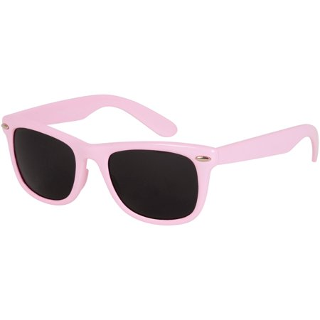 Sakkas Retro 1980's Style Sunglasses with Super Dark Lens - Pink - One - Brunette With Sunglasses