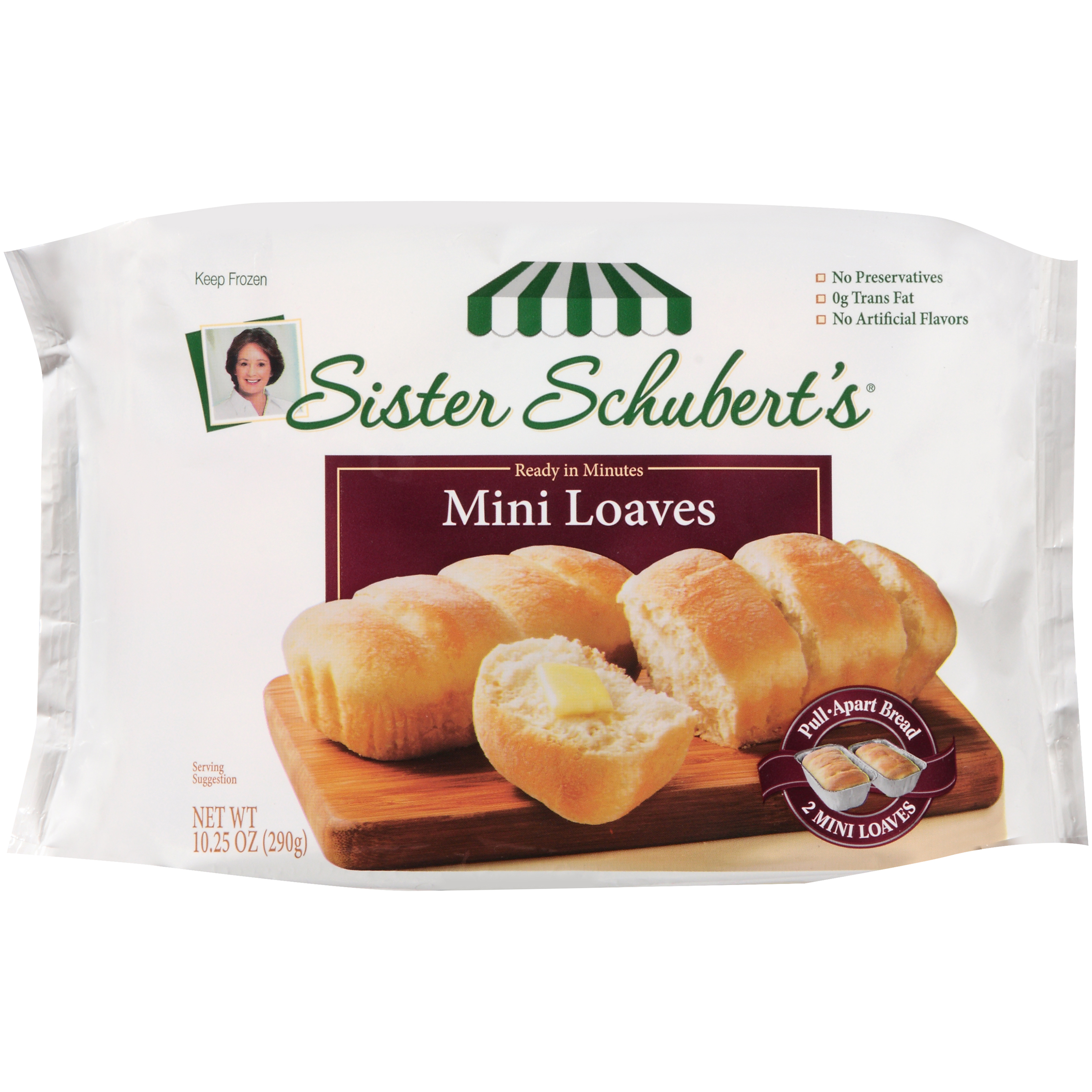 Sister Schubert's Loaves Mini, 10.25 OZ