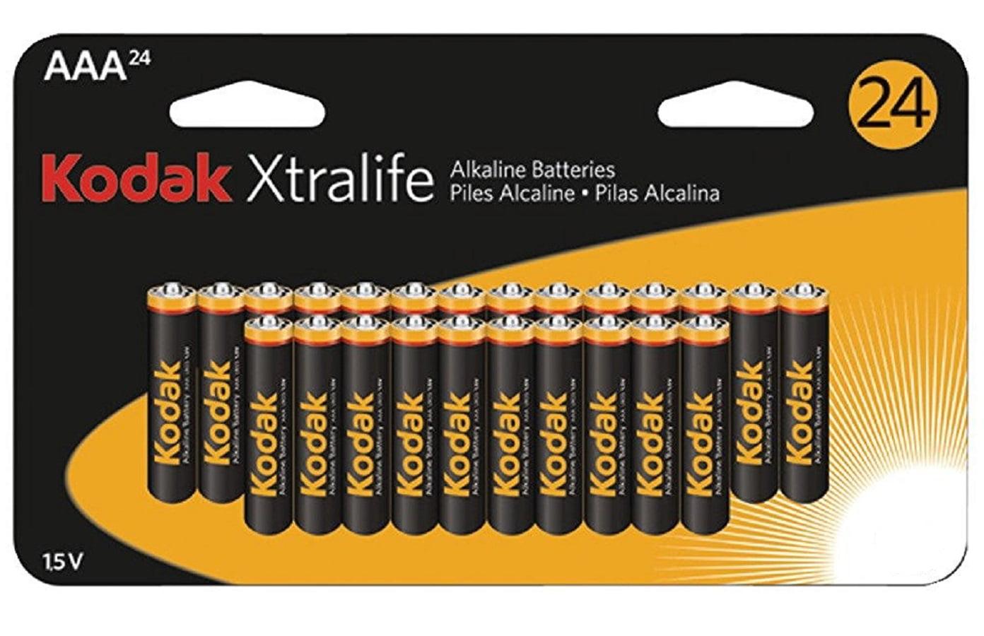 Kodak Xtralife K3a 24 Alkaline Batteries Aaa 24 Pk Walmart Com Walmart Com