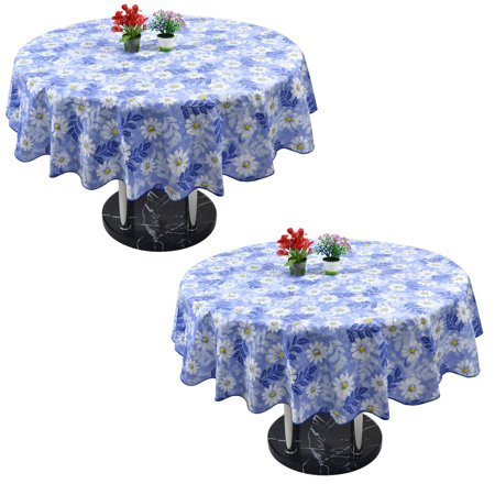 Vinyl Home Picnic Tablecloth Round Tables 60