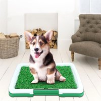 Yosoo Pet Potty Mat Grass Pad Dog with Mesh+Collection Puppy Potty Trainer Patch Tray Mat Pad Home Indoor Restroom Toilet Pee Training