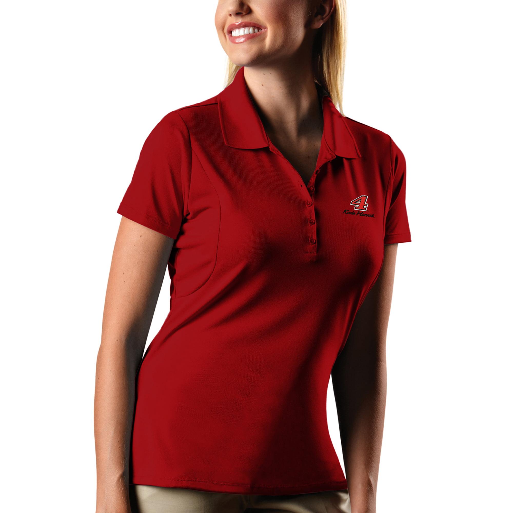 Kevin Harvick Women's Antigua Pique Desert Dry X-tra Lite Polo - Red