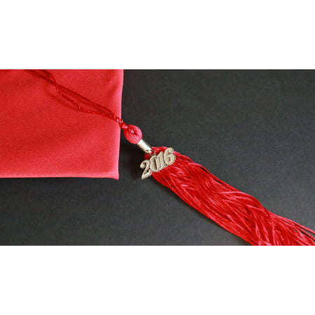 Peel-n-Stick Poster of Hat Graduation Grad Cap Success Tassel Academic Poster 24x16 Adhesive Decal](Graduation Cap Decals)