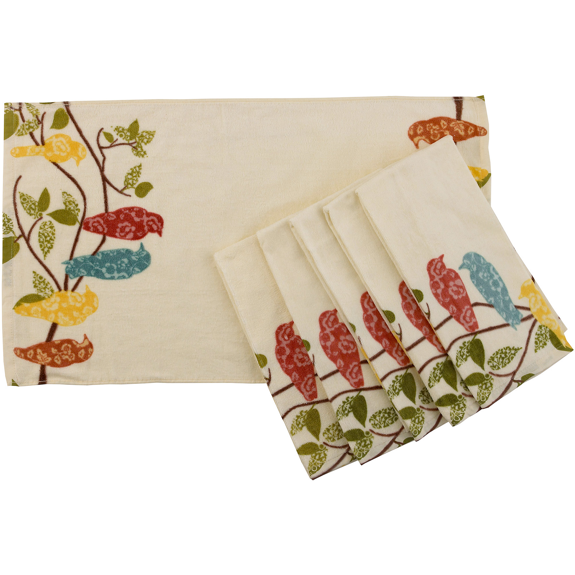Better Homes and Gardens Songbirds Kitchen Towel, Set of 6