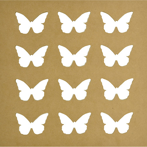 Beyond The Page Silhouette Wall Art, Butterfly