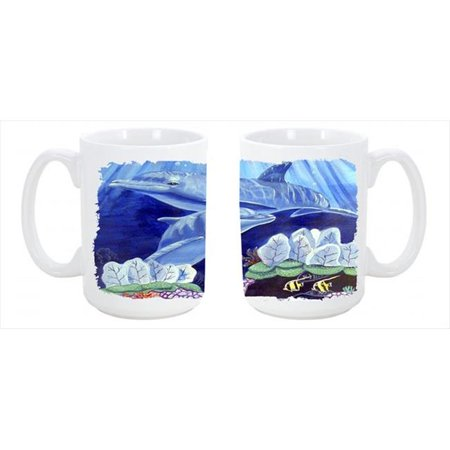 Dolphin under the sea Dishwasher Safe Microwavable Ceramic Coffee Mug 15 oz. - image 1 de 1