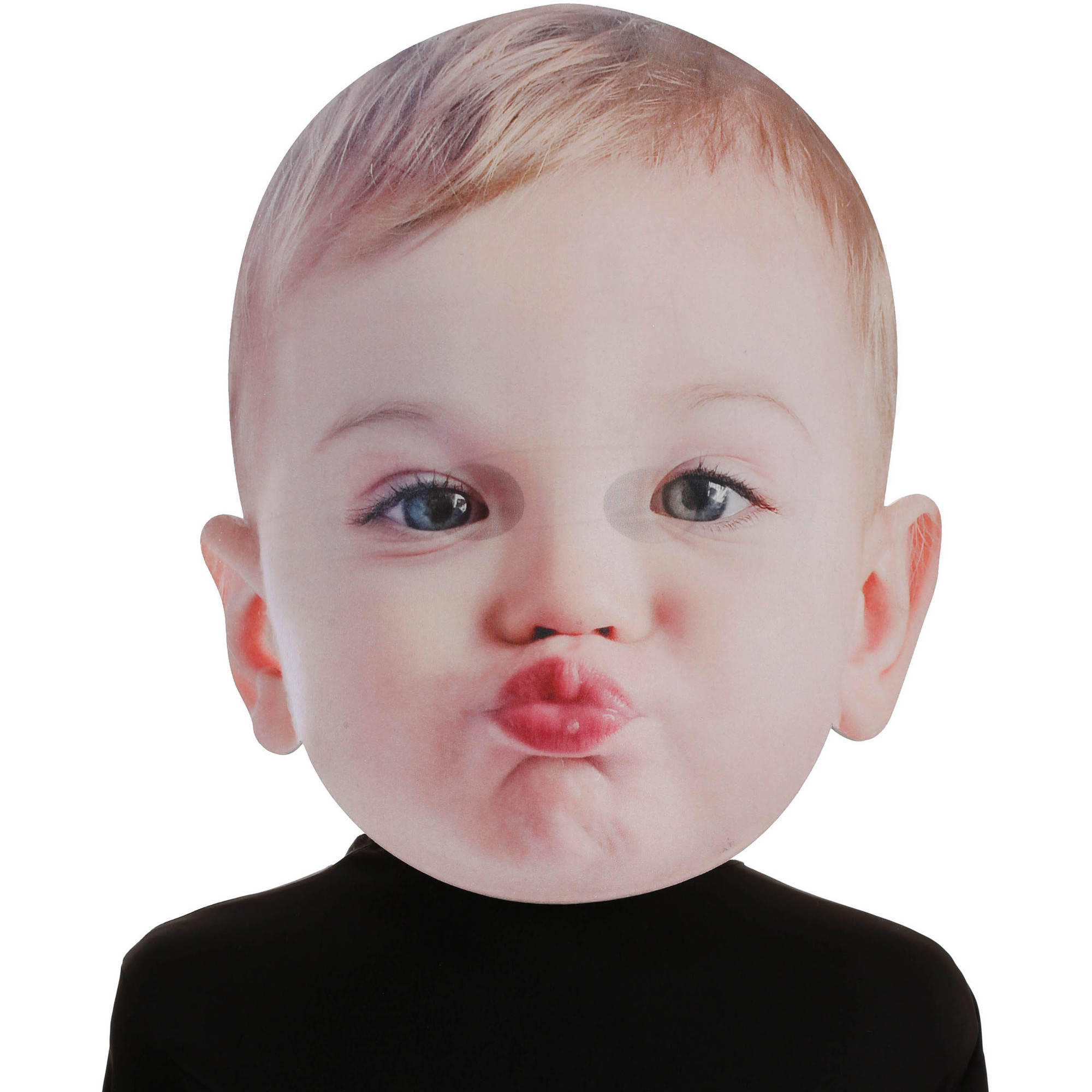 kissing baby mask adult halloween accessory - walmart