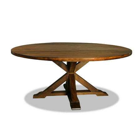 South Cone Home La Phillippe Reclaimed Wood Round Dining Table