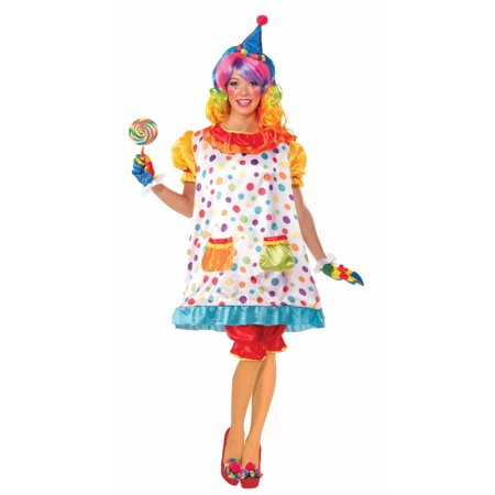 Womens Clown Outfit (Wiggles The Clown Women's Adult)