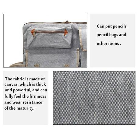 Art Portfolio Bag Case Backpack Drawing Board Shoulder Bag with Zipper Shoulder Straps for Artist Painter Students Artwork - image 6 de 8