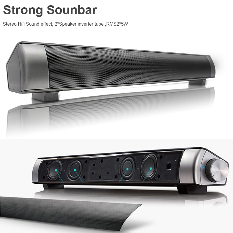 Powerful 360° Sound Bar TV Soundbar Stereo Wireless Hifi Bluetooth Home Theater Speaker 3D Surround Box Amplifier Subwoofer MP3 For TPC Laptop Tablet Smartphone Upgraded TF AUX