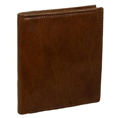 Men's Leather Big Hipster Bifold Wallet (British Brown)