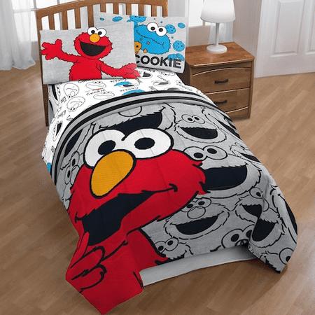 Sesame Street Elmo Hip Twin Comforter 3 Piece