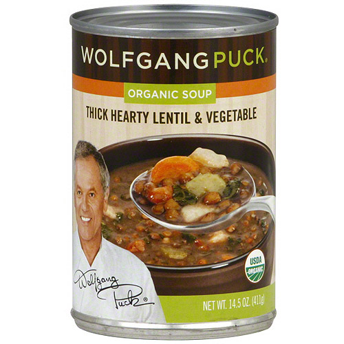 Wolfgang Puck Thick Hearty Lentil & Vegetable Organic Soup, 14.5 oz (Pack of 12)