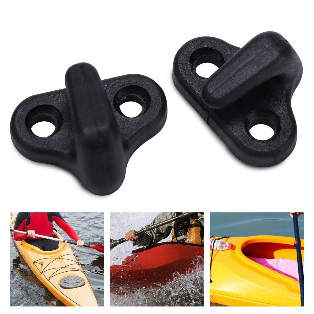 Hilitand Nylon Kayak Lashing J Shape Hooks Replacement Black With Flat-head Screws ,Kayak Accessories, Kayak Lashing Hooks Replacement