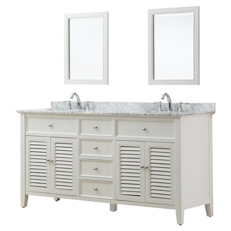 Direct Vanity Sink Shutter 6070D12 70 in. Double Bathroom Vanity